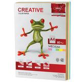 Бумага CREATIVE color (Креатив), А4, 80 г/<wbr/>м<sup>2</sup>, 250 л. (5 цв. х 50 л.), цветная медиум