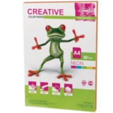 Бумага CREATIVE color (Креатив), А4, 80 г/<wbr/>м<sup>2</sup>, 50 л. (5 цв.х10 л.), цветная неон