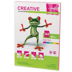 Бумага CREATIVE color (Креатив), А4, 80 г/<wbr/>м<sup>2</sup>, 50 л., неон розовая