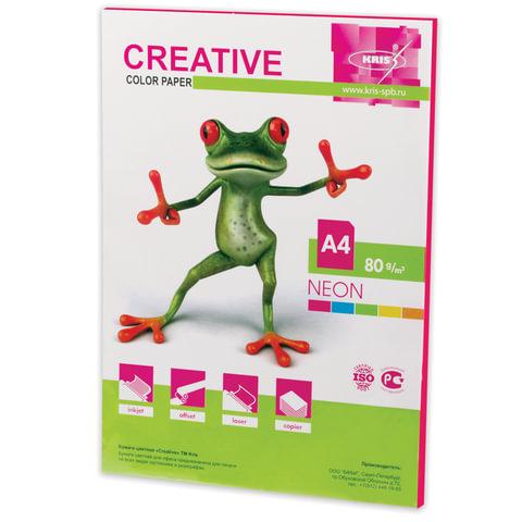 Бумага CREATIVE color (Креатив), А4, 80 г/м2, 50 л., неон малиновая