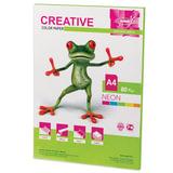 Бумага CREATIVE color (Креатив), А4, 80 г/<wbr/>м<sup>2</sup>, 50 л., неон салатовая