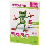 Бумага CREATIVE color (Креатив), А4, 80 г/<wbr/>м<sup>2</sup>, 50 л., неон желтая