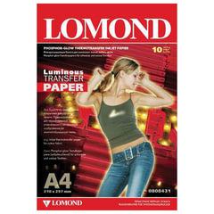 Бумага термотрансферная LOMOND флуоресцентная, А4, 10 шт., 140 г/<wbr/>м<sup>2</sup>, 0808431