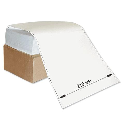 """Бумага с неотрывной перфорацией, 210х305 (12"""") х 1500 л., плотность 60 г/м2, белизна 93%"""
