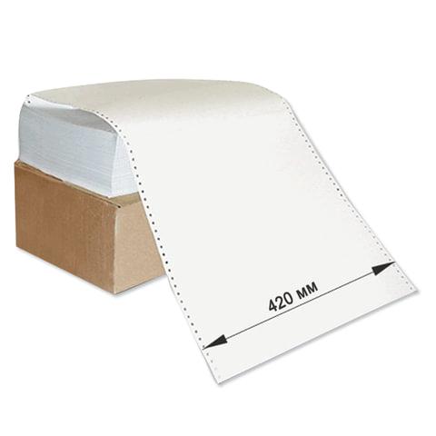 """Бумага с неотрывной перфорацией, 420×305 (12"""") х 1500 л., плотность 60 г/<wbr/>м<sup>2</sup>, белизна 93%"""