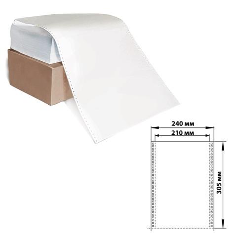 """Бумага с отрывной перфорацией, 240×305 (12"""") х 1500 л., плотность 60 г/<wbr/>м<sup>2</sup>, белизна 93%"""