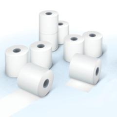 Рулоны для кассовых аппаратов/<wbr/>терминалов, термобумага, 80×60×18 (60 м), комплект 5 шт., гарантия намотки, BRAUBERG
