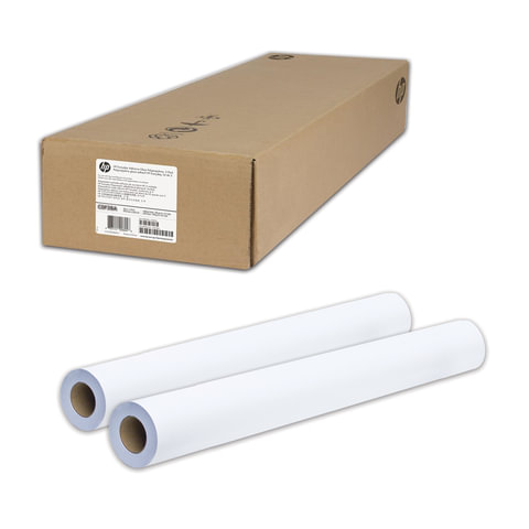 Рулоны для плоттера (пленка самоклеящаяся), 914 мм х 22 м х втулка 50,8 мм, 120 г/м2, глянцевые, комплект 2 шт., HP C0F28A