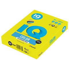 Бумага IQ color, А4, 80 г/<wbr/>м<sup>2</sup>, 500 л., неон желтая NEOGB