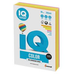 Бумага IQ color, А4, 80 г/<wbr/>м<sup>2</sup>, 200 л. (4 цв. x 50 л.), цветная неон RB04