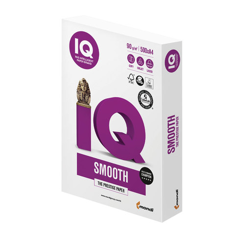 "Бумага IQ SELECTION SMOOTH, А4, 90 г/м2, 500 л., класс ""А+"", Австрия, белизна 170% (CIE)"