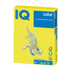 Бумага IQ color, А4, 80 г/<wbr/>м<sup>2</sup>, 100 л., неон желтая NEOGB