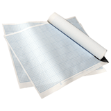 Бумага масштабно-координатная, формат 400×600 мм, синяя