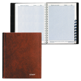 Телефонная книжка, А5, 160×204 мм, 80 л., STAFF, ВЫРУБНОЙ АЛФАВИТ, обложка ПВХ, евроспираль