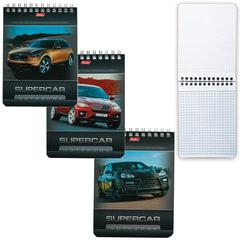 Блокнот А6, 40 л., гребень, лакированная обложка, HATBER, «Машины», 110×145 мм, 40Б6B1гр