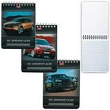 Блокнот А6, 40 л., гребень, лакированная обложка, HATBER, «Машины», 110×145 мм