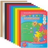 Цветная бумага, А4, волшебная, 18 листов, 10 цветов, АППЛИКА, 200×290 мм
