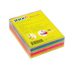 Блок самоклеящийся (стикер) HOPAX с отверстием для ручки, 76×101 мм, 280 л., 7 цветов, неон