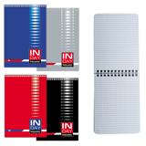 Блокнот А6, 48 л., гребень, мелованный картон обложка, клетка, BRAUBERG (БРАУБЕРГ), «Индей», 4 вида, 108×145 мм