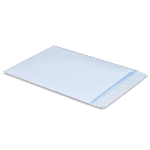 Конверт-пакет В4 плоский, 250х353 мм, белый, с отрывной полосой, на 140 листов