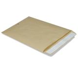 Конверт-пакет В4 плоский, 250×353 мм, из крафт-бумаги, с отрывной полосой, на 140 листов