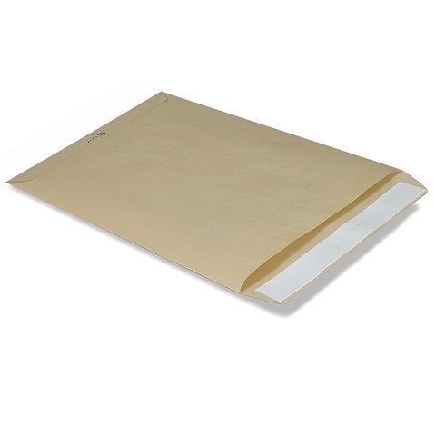Конверт-пакет В4 плоский, 250х353 мм, из крафт-бумаги, с отрывной полосой, на 140 листов