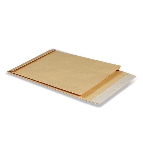 Конверт-пакет С4 объемный, 229×324×40 мм, из крафт-бумаги, с отрывной полосой, на 250 листов