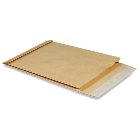 Конверт-пакет В4 объемный, 250х353х40 мм, из крафт-бумаги, с отрывной полосой, на 300 листов
