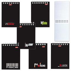 """Блокнот А7, 40 л., гребень, HATBER, «INSIDE"""" (""""Офисный стиль»), 75×105 мм, 40Б7C1гр 1622"""