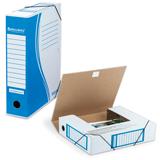 Накопитель документов, папка с резинкой BRAUBERG (БРАУБЕРГ), 75 мм, синий, до 700 л.