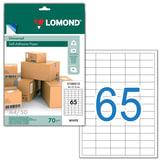 �������� ������������� LOMOND �� ����� ������� �4, 65 ��������, ������ 38×21,2 ��, �����, 50 �.