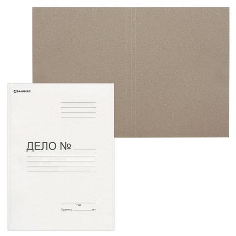Папка Дело картонная (без скоросшивателя) BRAUBERG, гарантированная плотность 280 г/м2, до 200 листов