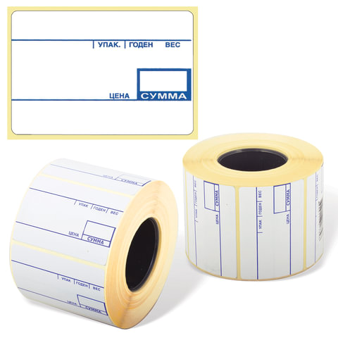 Этикетка ТермоЭко, для термопринтера и весов, 58×40×700 шт. (ролик), с препринтом, светостойкость до 2 месяцев