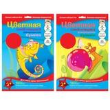 Цветная бумага, А4, самоклеящаяся флуоресцентная, 8 листов, 4 цвета, АППЛИКА, 206×285 мм