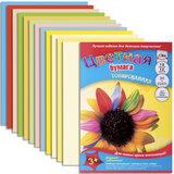 Цветная бумага, А4, тонированная, 12 листов, 12 цветов, АППЛИКА, 220×300 мм
