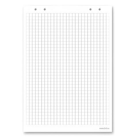Блокнот для флипчарта «2×3» («Дважды три», Польша), 20 листов, клетка, 66×99 см