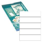 Этикетка самоклеящаяся LOMOND на листе формата А4, 5 этикеток, 210×57 мм, белая, 50 л., для папок-регистраторов 70 мм