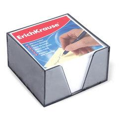 Блок для записей ERICH KRAUSE в подставке прозрачной, куб 9×9×5, белый, белизна 95-98%
