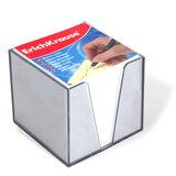 Блок для записей ERICH KRAUSE в подставке прозрачной, куб 9×9×9, белый