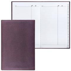 Телефонная книжка А5, 136×202 мм, 96 л., BRAUBERG, вырубной алфавит, «Favorite», под классическую кожу, коричневая