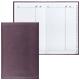 Телефонная книжка А5, 136×202 мм, 96 л., BRAUBERG (БРАУБЕРГ), вырубной алфавит, «Favorite», под классическую кожу, коричневая