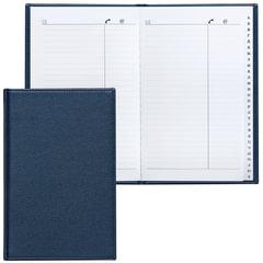 Телефонная книжка А5, 136×202 мм, 96 л., BRAUBERG, вырубной алфавит, «Favorite», под классическую кожу, темно-синяя