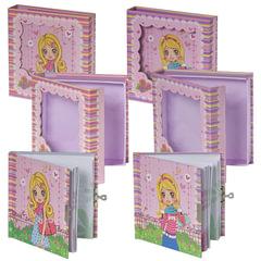 Блокнот 7БЦ, А6, 60 л., металлический замок, блестки, подарочная упаковка, BRAUBERG «Стильная девчонка», 145×155 мм