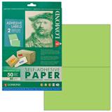 Этикетка самоклеящаяся LOMOND на листе формата А4, 2 этикетки, размер 210×148,5 мм, зеленая, 50 л.