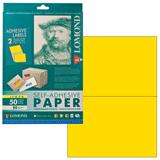 Этикетка самоклеящаяся LOMOND на листе формата А4, 2 этикетки, размер 210×148,5 мм, лимонно-желтая, 50 л.
