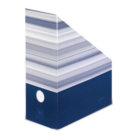 Накопитель документов (стойка) HERLITZ «Montana», синий, картон, 305×245×115 мм, до 1050 л.