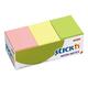 Блоки самоклеящиеся, комплект 12 шт., НЕОН, 38×50 мм, 12×100 л., 3 цвета