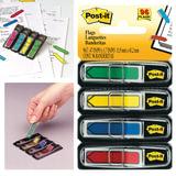 Закладки самоклеящиеся POST-IT, 12 мм, 4 цвета х 24 л., (3М, США)