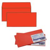 Конверты С65, комплект 5 шт., отрывная полоса STRIP, красные, упаковка с европодвесом, 114×229 мм