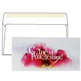 Конверт С65, «С днем рождения», отрывная полоса STRIP, 1 штука, упаковка с европодвесом, 114×229 мм